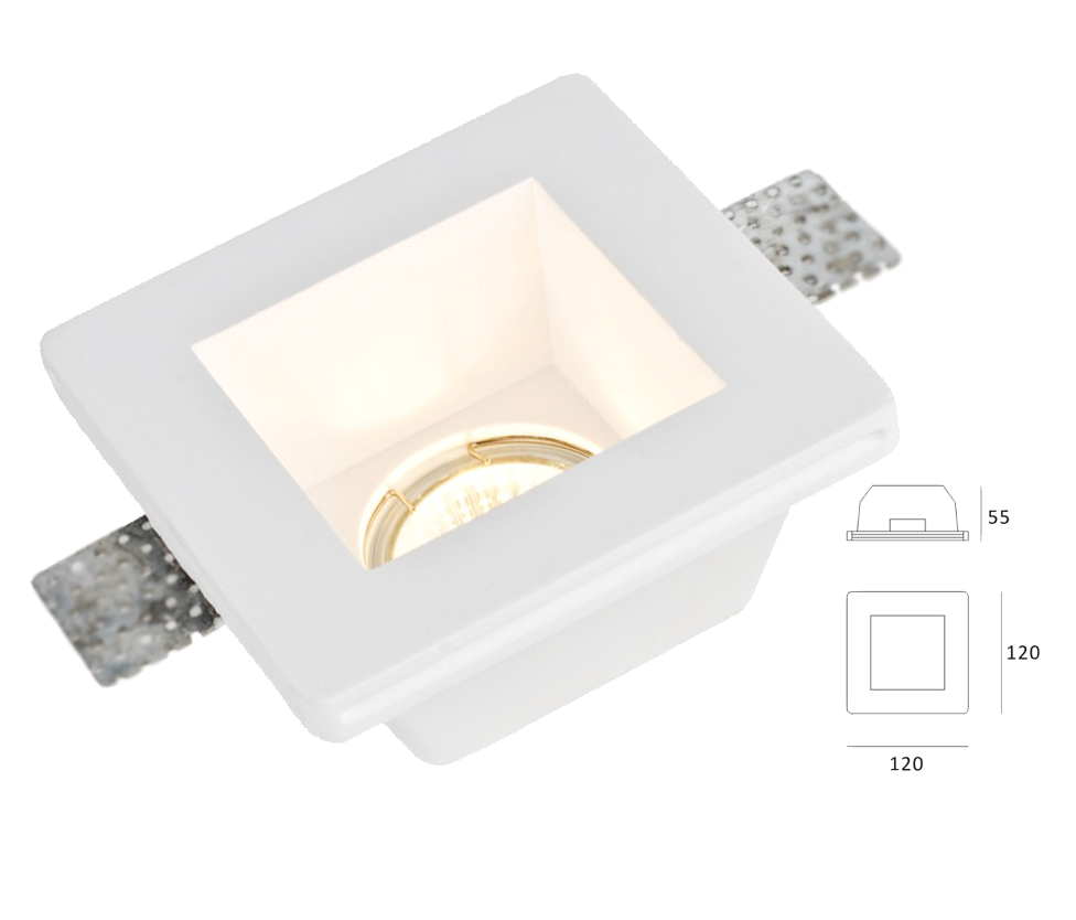 Eco Lights. trimless gypsum soffit seamless square